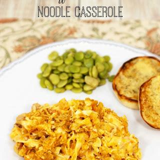 Buffalo Chicken Noodle Casserole.