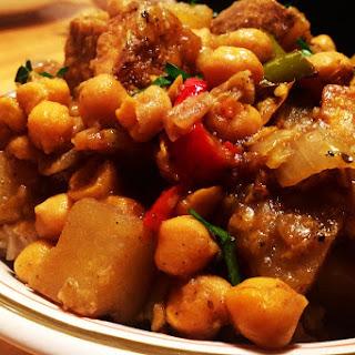 Jamaican Curried Tofu With Chickpeas [Vegan, GF]