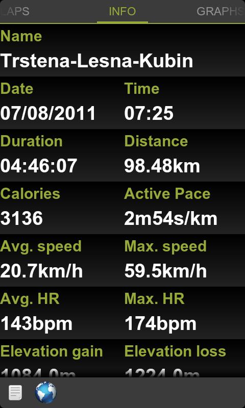 Viewer for Garmin Connect - screenshot