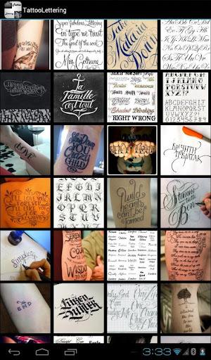Tattoo Pagkakasulat