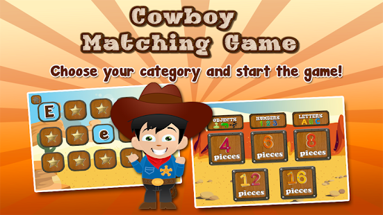 Cowboy Memory Game for Kids - screenshot thumbnail