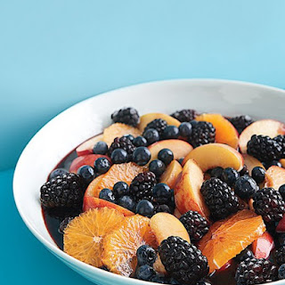 Red-Wine-Macerated Peaches, Berries, and Oranges