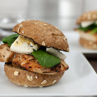 Grilled Chicken Burger with Brie.