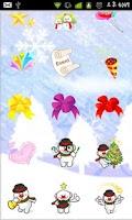 Screenshot of Christmas Sticker Widget Third