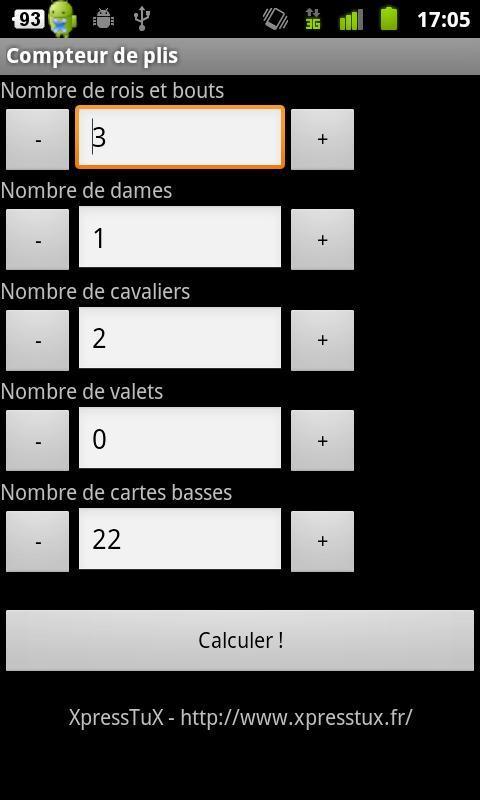 Compteur de plis- screenshot
