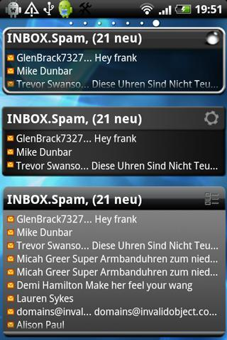 Email Widget - screenshot