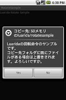 Screenshot of Luarida Rotate Sample