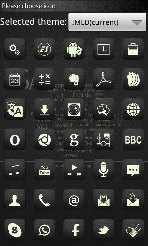 IMLD Theme GO Launcher EX - screenshot