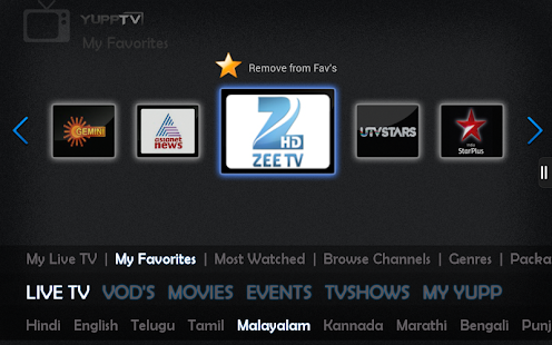 YuppTV - Indian Live TV Movies - screenshot thumbnail