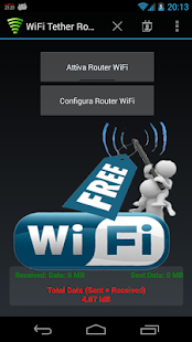 WiFi Tether Router- screenshot thumbnail