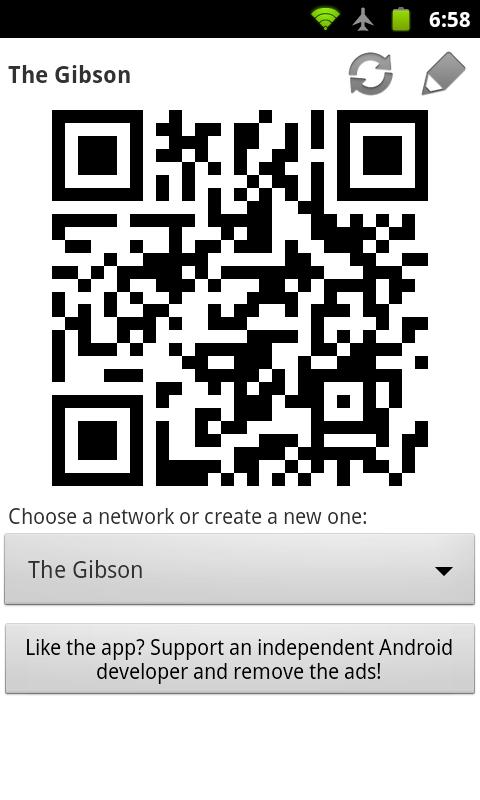WiFi QR Share- screenshot