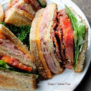 Ham and Cheese Club Sandwich (How to make a Club).