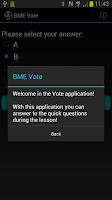 Screenshot of BME Vote