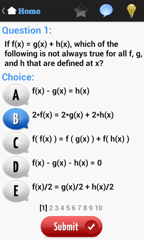 SAT Test- screenshot