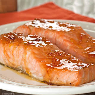 Orange and Bourbon Glazed Salmon.