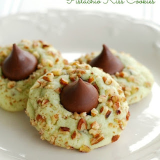 Pistachio Kiss Cookies