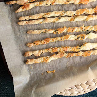 Parmesan and Herb Cheese Straws.