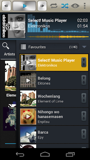 Select Music Player Tablet