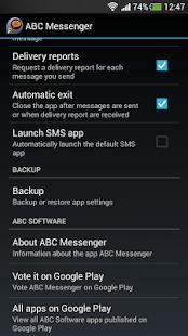 ABC Messenger screenshot