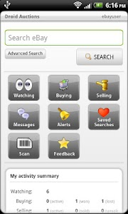 Droid Auctions for eBay AdFree screenshot 0