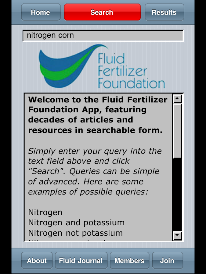 FFF Search- screenshot
