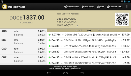 Dogecoin Wallet - screenshot thumbnail