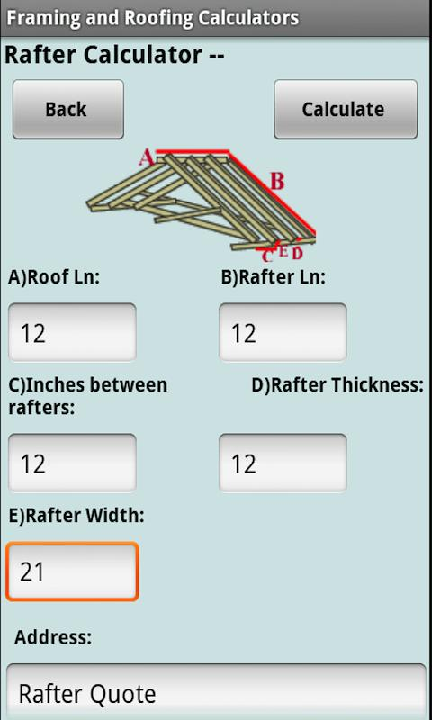 Framing Roofing Calculators Android Apps On Google Play