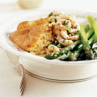 Corn and Dried Tomato Soufflé with Shrimp-Onion Relish