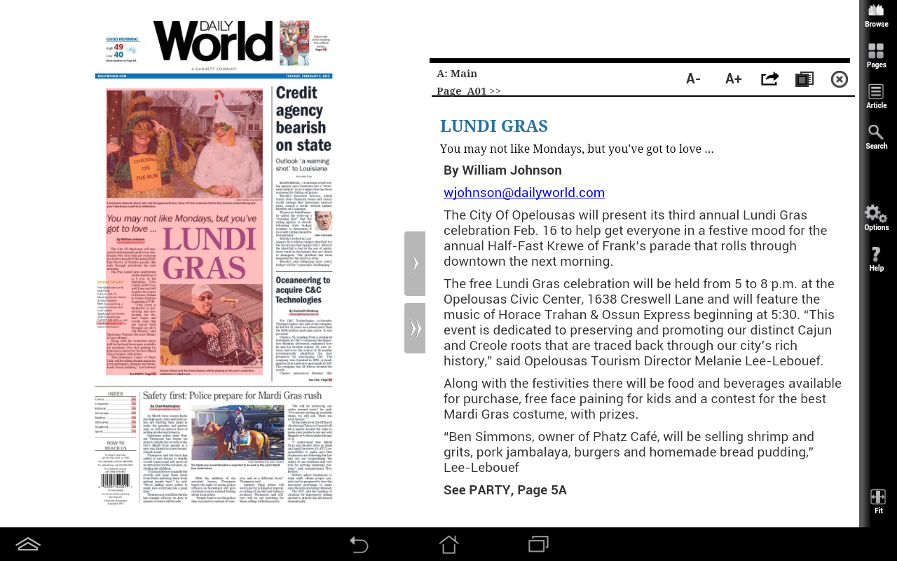 Daily World Print Edition- screenshot