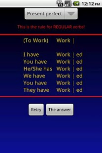 Verbuga English Verb Trainer- screenshot thumbnail