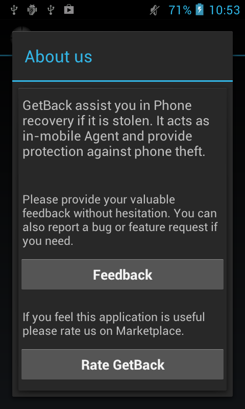 GetBack anti theft- screenshot