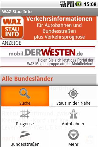 WAZ Stau-Info- screenshot