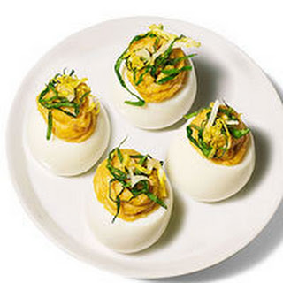 Caesar Deviled Eggs.