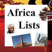 World Travel Lists - AFRICA