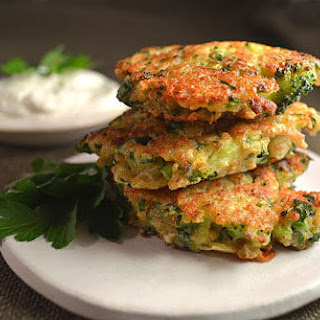 Broccoli Cheddar Jalapeno & Quinoa Fritters.