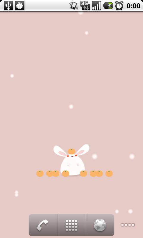 Mochi-Usa (live wallpaper)- screenshot