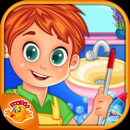 骯髒的衛生間清理 休閒 App LOGO-APP試玩