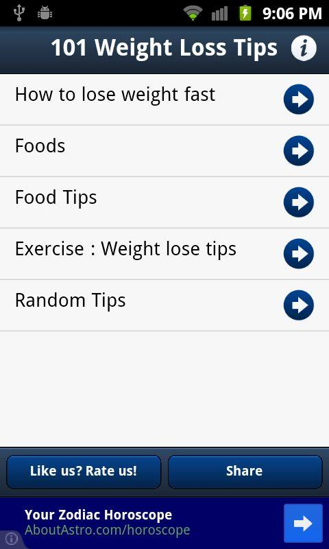 101 Weight Loss Tips - screenshot