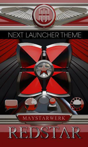 Next Launcher theme Red Star