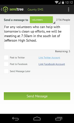SendTree Text Message Service