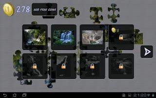 Screenshot of Waterfalls Puzzle