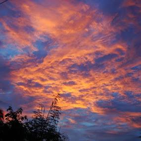 sky's on fire by Empty Deebee - Landscapes Cloud Formations (  )