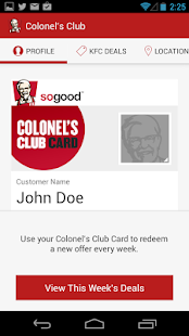 KFC Canada Colonel's Club- screenshot thumbnail