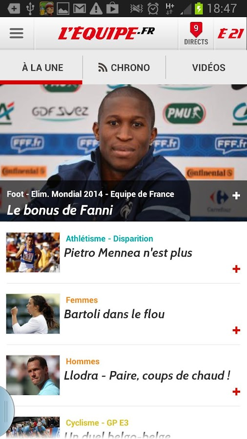 l'équipe.fr android
