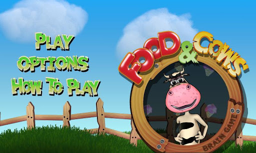食品和奶牛。腦遊戲