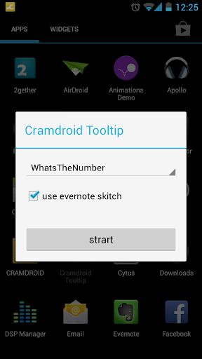 Cramdroid ToolTip Beta