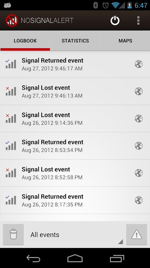 No Signal Alert Pro - screenshot