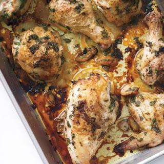 Chicken Marinated in Garlic Oil.