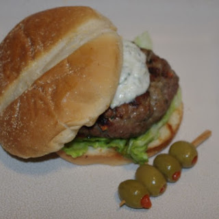 Gyro Burgers With Zouped Up Tzatziki