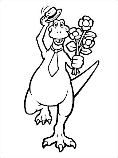 Coloring Book Dinosaurs